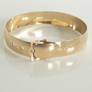 Vintage Gold Filled Small Etched Buckle Bracelet
